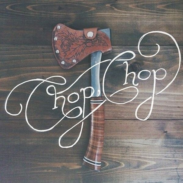 Chop Chop / Anchor & Buffalo #lettering