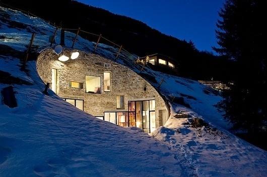villa vals | Blood Is The New Black #switzerland #architecture