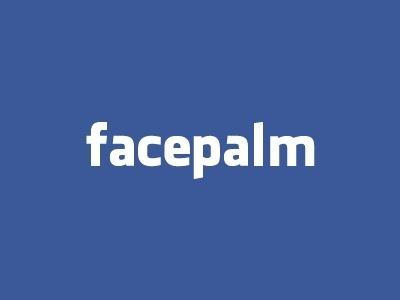 Facepalm #facebook #logo #fun