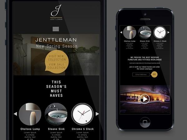 Jenntleman_mobile_site #design #mobile