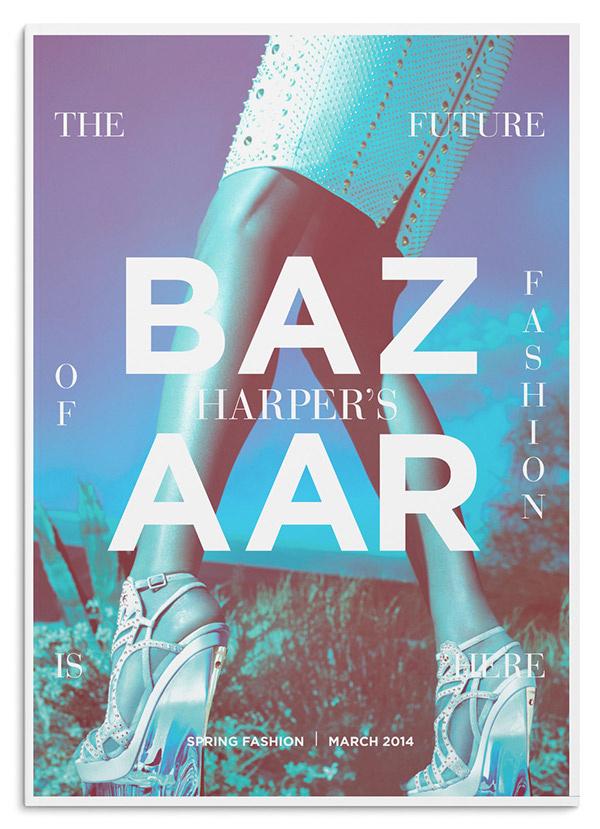 Editorial Design Served' Harper's Bazaar Redesign