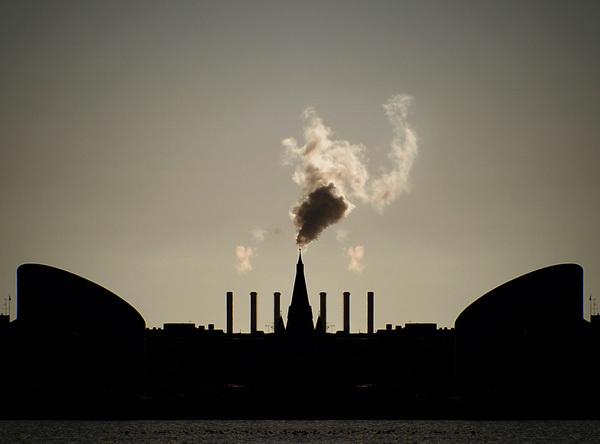the fire #smoke #church #print #steam #photography #fire #poster #copenhagen #mirrored