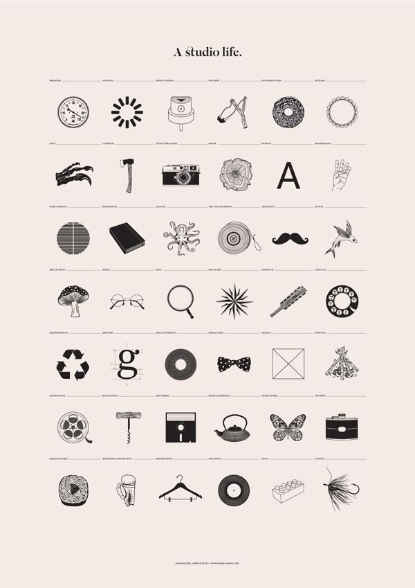 A Studio Life Poster Illustration by Grid #poster