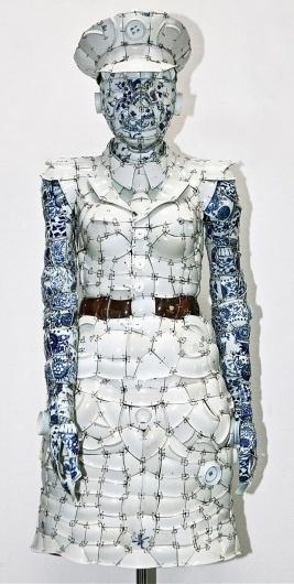 Porcelain POLO shirt by Li Xiaofeng | Yatzer™ #sculpture #art