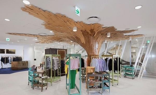 Fantastique Canopée by Paul Coudamy, Tokyo » Retail Design Blog #laminate #design #tree #retail