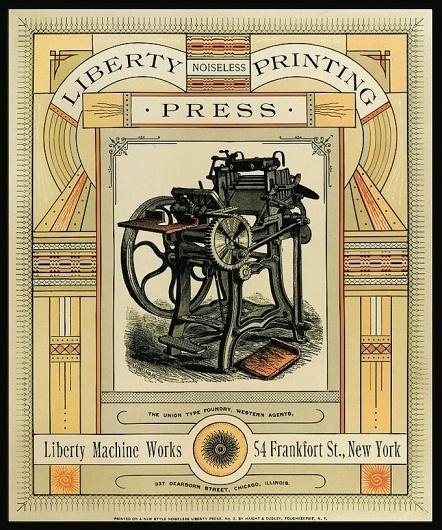 Liberty Machine Works | Sheaff : ephemera #print #vintage