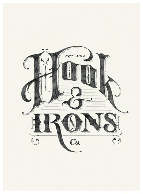 Hook & Irons Co. Logo Sketch by Tom Lane #logo #sketch #typography