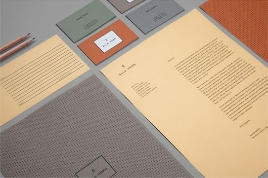 Alla Horn / Marcus Hollands | Design Graphique #phic #identity #design #stationery