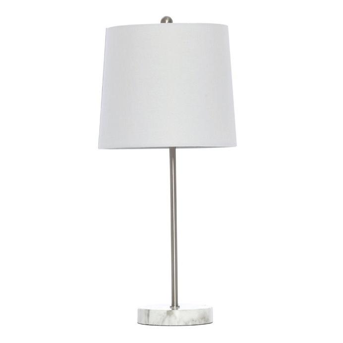 Bloomingdale White Marble Resin Base Table Lamp