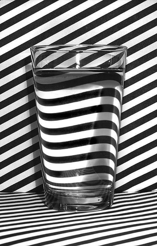 Refraction. Imgur #white #water #black #refraction #stripe