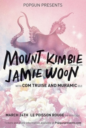 Ticket Giveaway: Com Truise & Mount Kimbie » ISO50 Blog – The Blog of Scott Hansen (Tycho / ISO50) #pink #squid #flowers #poster