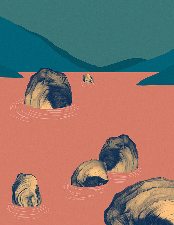 landscape, rocks