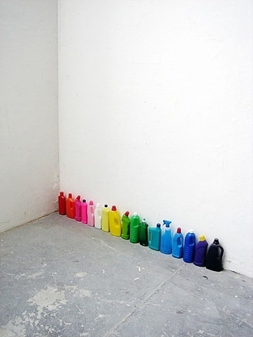FFFFOUND! | on Flickr - Photo Sharing! #bottle #installation #corner #space #plastic #colour