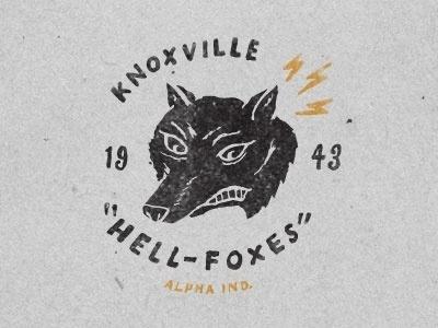 Dribbble - Mike-hell J. Fox by Jon Contino #hell #fox #jon #contino #logo #knoxville