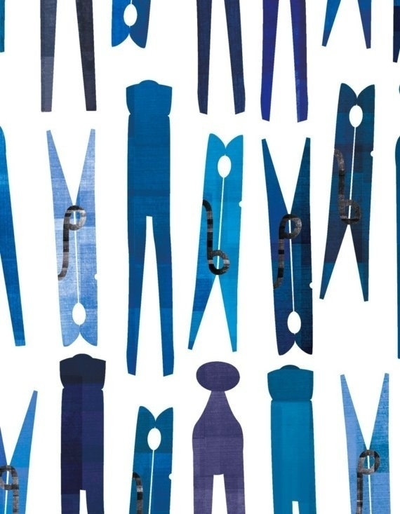 pattern #clip #blue #pattern #clasp