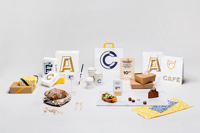 Packaging with bold typographic approach for Helsinki-based Fazer Cafe designed by Kokoro & Moi #packaging