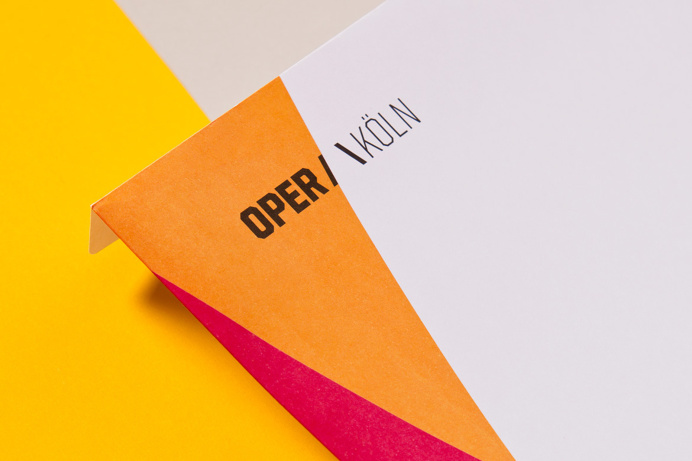 Oper koeln branding logo colorful design stationery corporate design by Formdusche Berlin Germany mindsparkle mag opera color graphic design