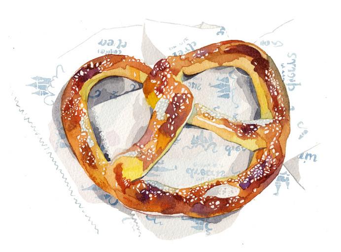pretzel illustration