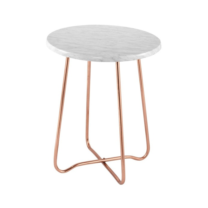 Jessica Marble Side Table Copper 47cmH x 39cmD