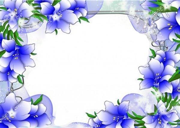 Shining floral border #border #designs #flowers