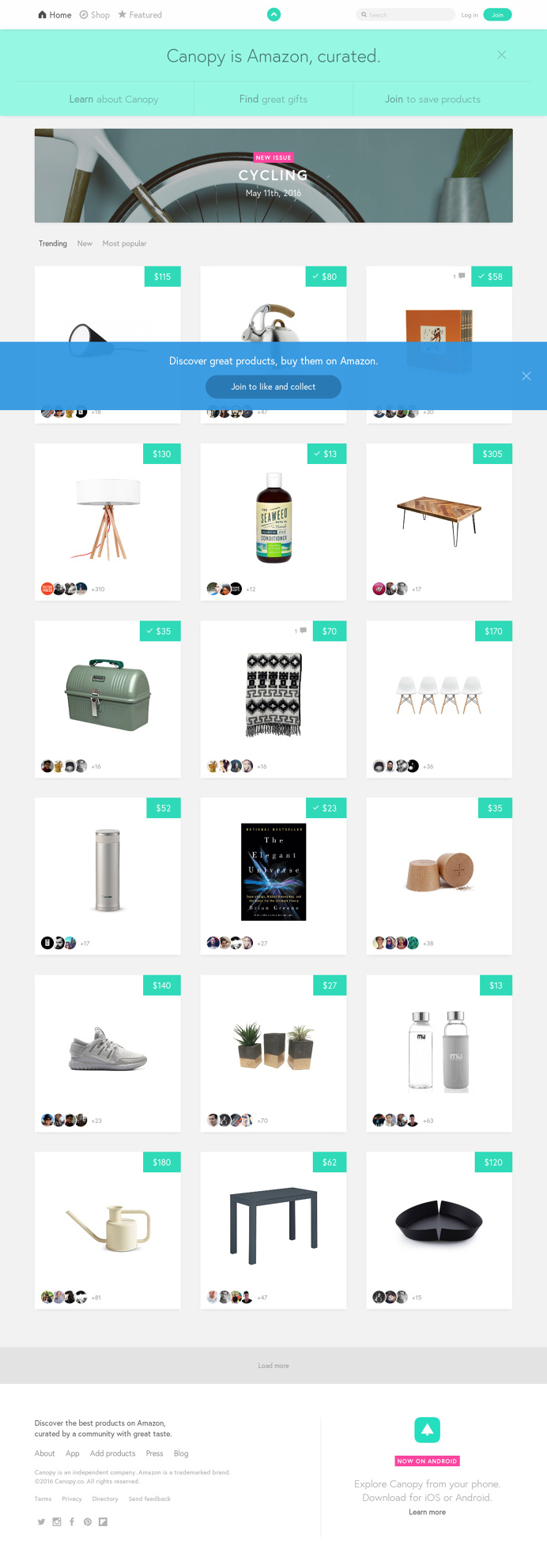 Canopy.co - A Curated Shop for Amazon