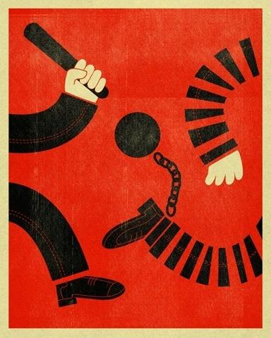 FFFFOUND! #red #print #illustration #vintage #criminals