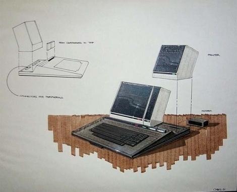 Atari 1200 & A300 Concept Sketches - Creative Journal #sketches #concept #atari