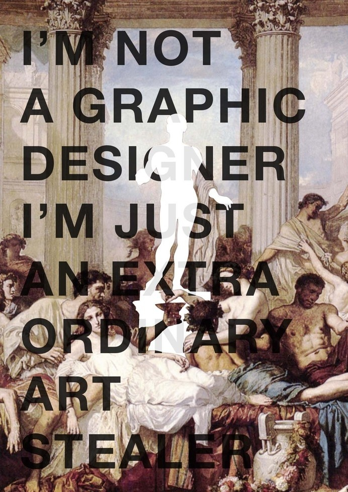 Extraordinary Art Stealer #design #graphic #quotes #art #typography