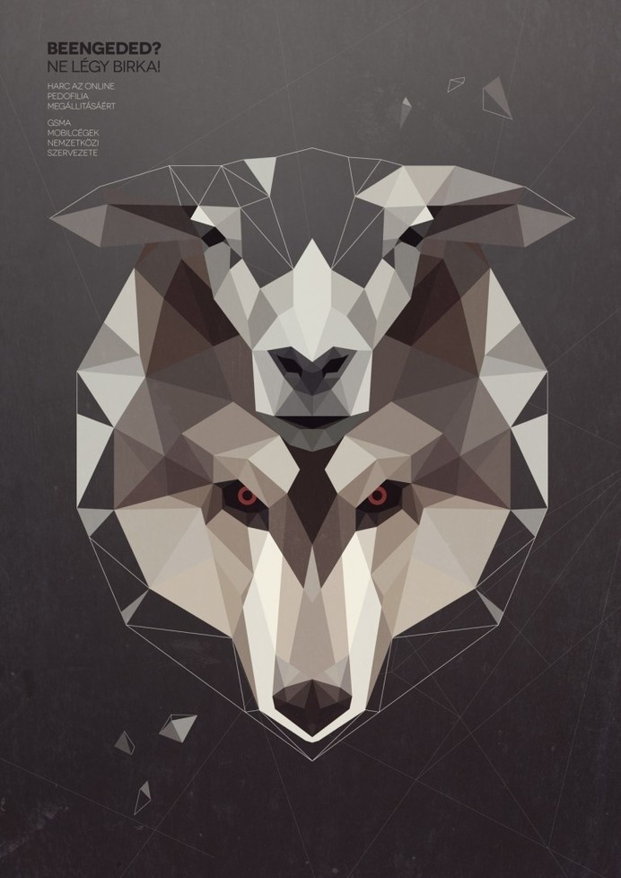 Wolf in sheep skin by Kevin Harald Campean #geometry #illustration #polly #art #low