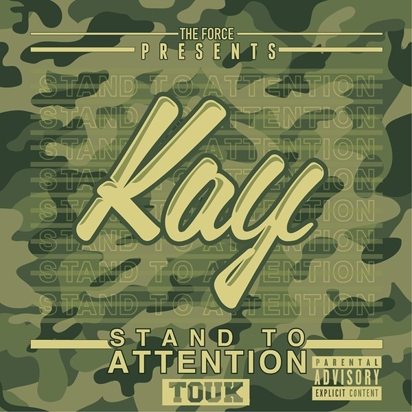 Kay - Stand to Attention cover #album #script #camo #design #graphic #hiphop #art #mixtape #typography