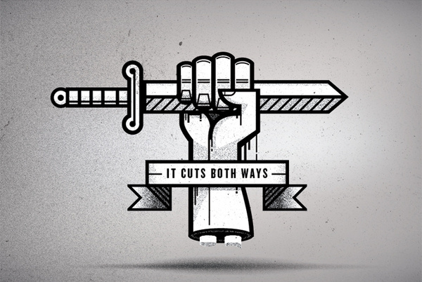 RULES OF ENGAGEMENT Nick Agin #cut #illustration #sword #texture
