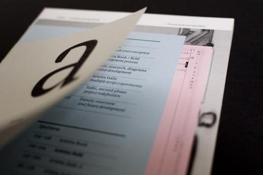 Arietta, process/specimen -- Abi Huynh #specimen #arietta #print #editorial #typography