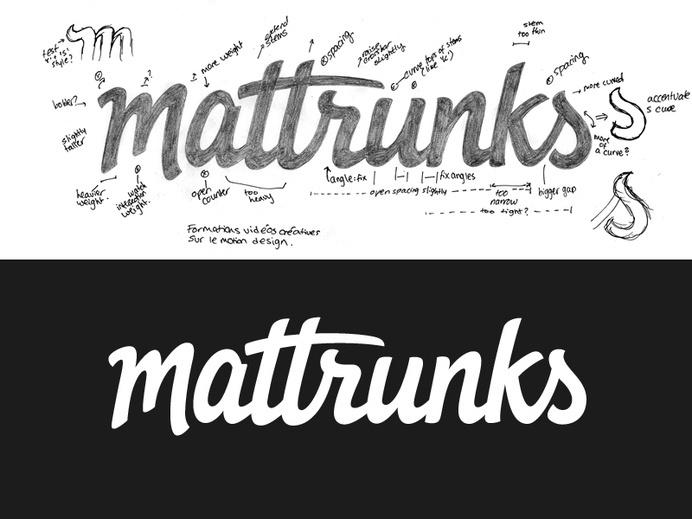 Mattrunks #inspiration #creative #lettered #personalized #design #illustration #logo #hand