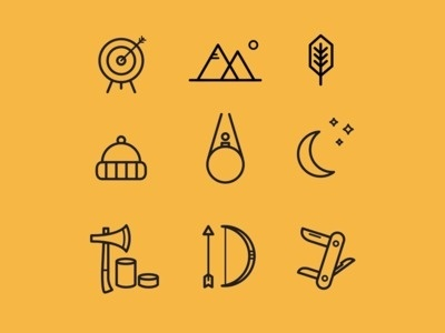 Adventure icons #icon #adventure #design #graphic #icons #black #nature