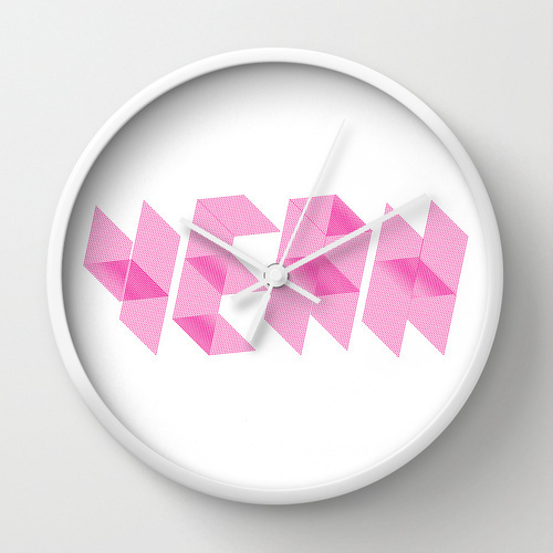 YEAH Â Lettering - Wall clock #clock #wall #design #typography