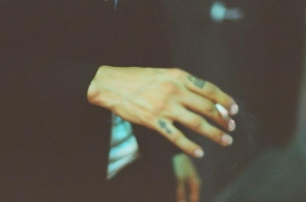 coffee & techno #analog #damnnyc #techno #cigarette #blur #tattoo #photography #tatoo #coffee #hand