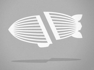 Dribbble - AIRSHP - Severed Blimp by Evan Bozarth #airship #vector #zeppelin #icon #evan #bozarth #logo #blimp