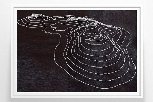 Drafted Topography | Olve Sande #sande #topography #artist #olve #drawing
