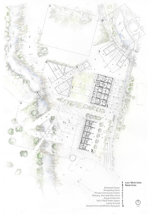 Current Masterplan - A working progress. #plan #drawing #plymouth #architecture #masterplan #pencil #watercolour