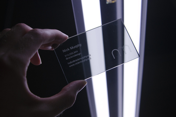 Clear Business Cards on Behance #acrylic #business #branding #clear #card #identity #personal