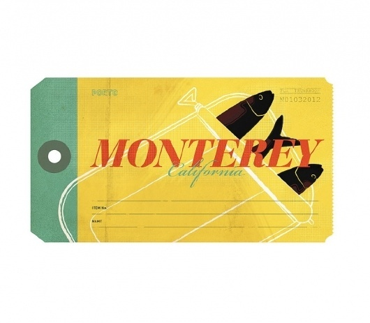 Monterey - The Everywhere Project #illustration #travel #california #label