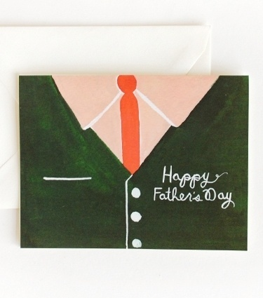 Rifle Paper Co. - Father's Day Shirt Card #card #shirt #father #illustration #tie
