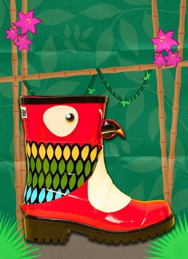 JUJU Parrot Creative #vector #young #graphic #child #bird #nature #art #kids #fun #parrot #jungle