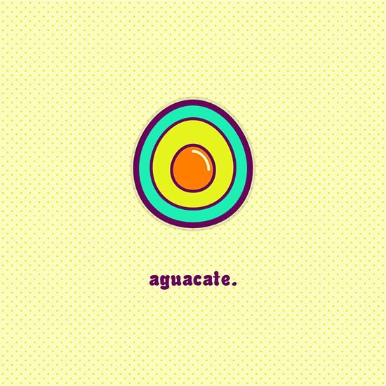 """""""Aguacate"""" by Molly Yllom #illustration #character #design"""