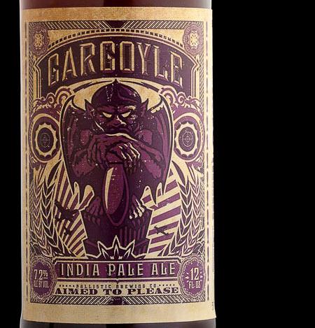 Ballistic Brewing Gargoyle IPA #packaging #beer #label #bottle