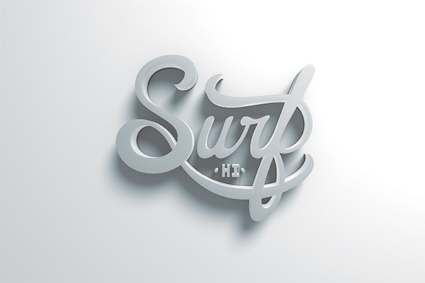 Surf HI on Behance #surf #logo #type #3d #typography