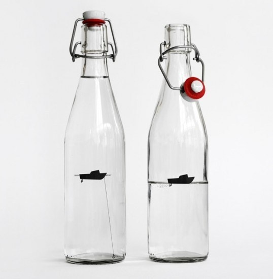 water bottle by designers anonymous #packaging #boat #label #bottle