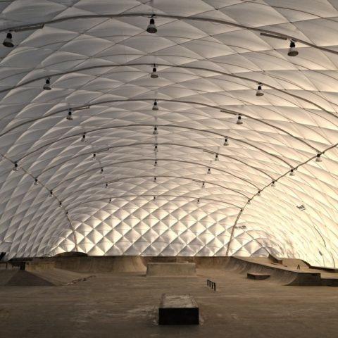 Hala skatepark Rzeszów Podpromie - nowoczesne lekkie hale