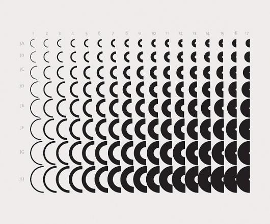 New alphabet, new language? on the Behance Network #grid #layout #typeface #new