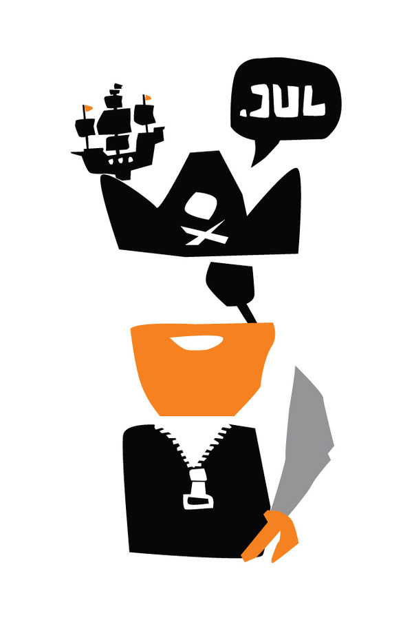 The pirate #calendar #kostis #illustration #sotirakos #greece #pirate #athens